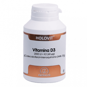 Holovit Vitamina D3 2000 UI + K2 180 cápsulas