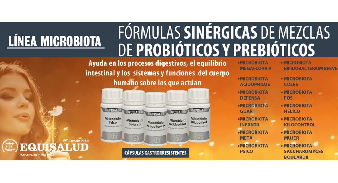 Microbiota, fórmulas sinérgicas de mezclas de probióticos y prebióticos