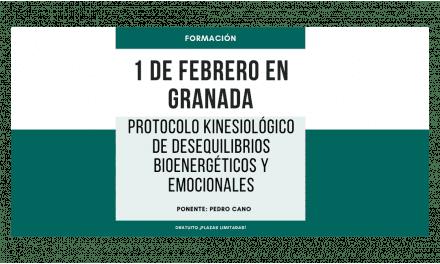 Formación en Granada «Protocolo kinesiológico de desequilibrios bioenergéticos y emocionales» en febrero