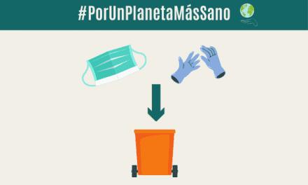 ¿Cómo se reciclan las mascarillas y los guantes?