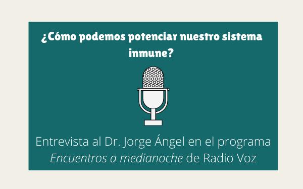 Entrevista al Dr. Jorge Ángel en Radio Voz