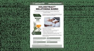 Ficha técnica Holoextract Melatonina sueño
