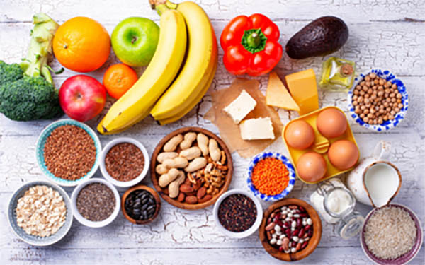 Frutas, verduras y legumbres para una dieta saludable