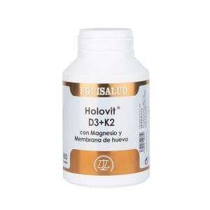 Holovit D3+K2 con Magnesio y Membrana de huevo 180 cápsulas