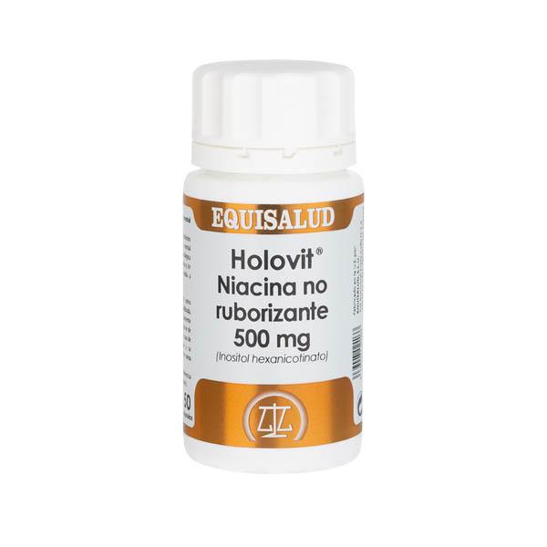 Holovit Niacina no ruborizante 500 mg (Inositol hexanicotinato) 50 cápsulas