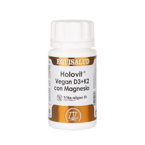 Holovit Vegan D3 + K2 con Magnesio 50 cápsulas